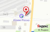 Схема проезда до компании Трифоль в Усть-Илимске