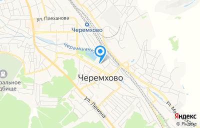 Местоположение на карте пункта техосмотра по адресу Иркутская обл, г Черемхово, ул 2-ая Некрасова, д 3
