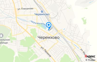 Местоположение на карте пункта техосмотра по адресу Иркутская обл, г Черемхово, ул Некрасова 2-я, д 3