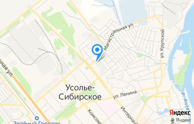 Местоположение на карте пункта техосмотра по адресу Иркутская обл, г Усолье-Сибирское