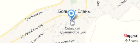 Колосок на карте Большой Елани