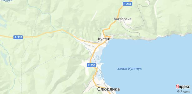 Култук на карте