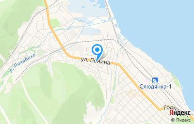 Местоположение на карте пункта техосмотра по адресу Иркутская обл, г Слюдянка, ул Ленина, зд 64