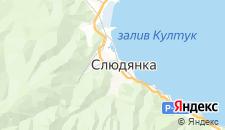 Отели города Слюдянка на карте