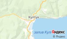 Отели города Култук на карте