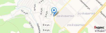 Три бочонка на карте Ангарска