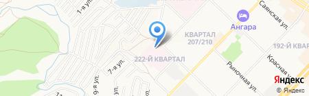 Детская поликлиника №5 на карте Ангарска