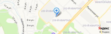 Компания натяжных потолков на карте Ангарска