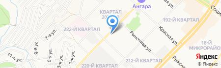 Щеголь на карте Ангарска