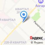 Щёголь на карте Ангарска