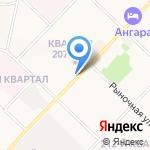 Бригантина на карте Ангарска