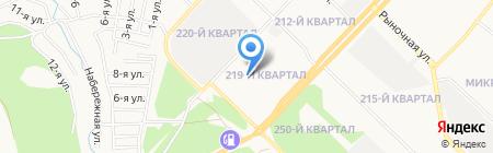 Детский сад №12 на карте Ангарска
