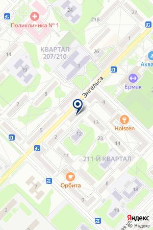 МАрт на карте Ангарска