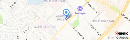 Средняя общеобразовательная школа №36 на карте Ангарска