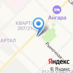 Парадиз на карте Ангарска