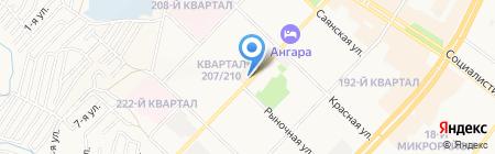 Центровой на карте Ангарска