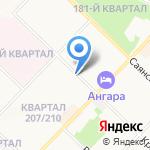 Колбаскин на карте Ангарска