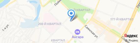 Мужество на карте Ангарска