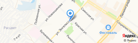 Киоск по продаже печатной продукции на карте Ангарска