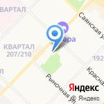 Клуб конькобежного спорта на карте Ангарска