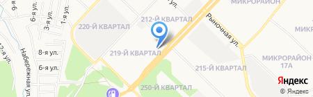 Рубеж на карте Ангарска
