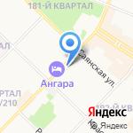 Ангарская станция по борьбе с болезнями животных на карте Ангарска