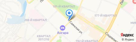Ангара-курьер на карте Ангарска