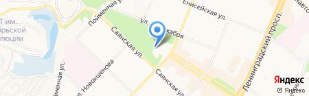 Современник на карте Ангарска