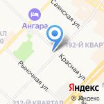 Эскада на карте Ангарска