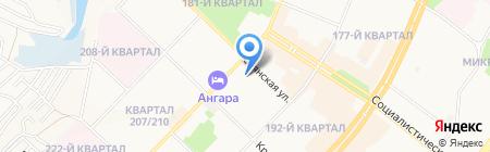 Детский сад №2 на карте Ангарска