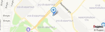Шельф на карте Ангарска