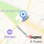 Сеть фирменных магазинов на карте Ангарска
