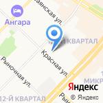 Детский сад №36 на карте Ангарска