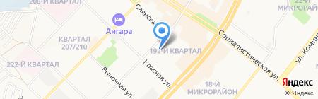 Комсомолец на карте Ангарска