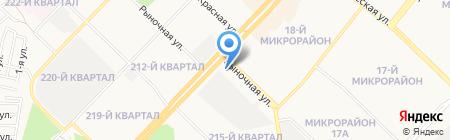Гермес-2 на карте Ангарска