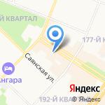 Маленький Гуру на карте Ангарска