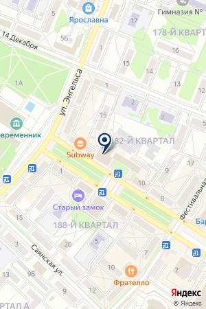Паутина на карте Ангарска