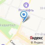 Сёма на карте Ангарска