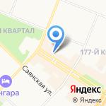 Бельпостель на карте Ангарска