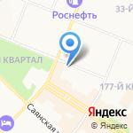 Завиток на карте Ангарска