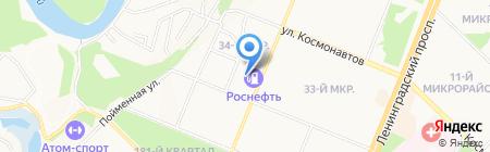 Zebra на карте Ангарска
