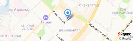 Саяны SV на карте Ангарска
