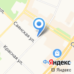 Саяны на карте Ангарска