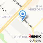 Квартальский на карте Ангарска