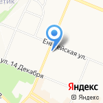 Новэк на карте Ангарска