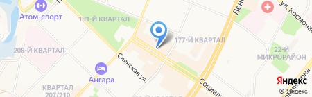 Пешеход на карте Ангарска