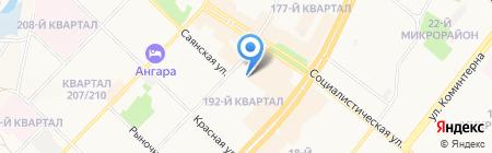 Гарра-Руфа на карте Ангарска