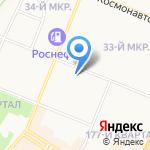 Гимназия №1 на карте Ангарска