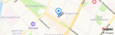 Элит Лайн на карте Ангарска