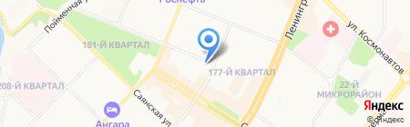 Военторг на карте Ангарска